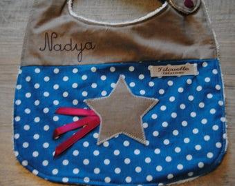 Personalized name star for Nadya bib!