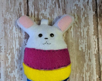 Easter bunny in egg plushie