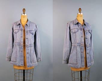 Levis Silvertap Denim Jacket / Levis Jean Jacket / Oversized Jean Jacket / 80s Jacket / Long Jean Jacket / Denim / Levis / Size S/M