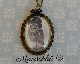 necklace old owl retro vintage