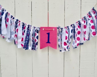 Nautical Birthday Party - 1st birthday banner - birthday banner - nautical 1st birthday - nautical 1st birthday banner - boy birthday banner