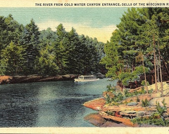 Vintage Postcard - Wisconsin Dells, Wisconsin, Cold Water Canyon - Postcard - Unused (V)