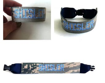 Blue Airforce ABU bracelet- Other colors available!