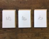 Minimal Adventure Letterpress Cards