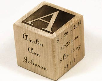 Personalized Wooden Baby Blocks, Baby Shower Gift, Baptism Gift Baby Blocks