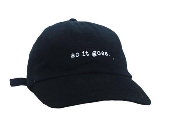 So it goes. Baseball cap