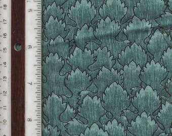"""Teal Green Petals or Scales - 21-1/2"""" L X 36"""" W - 100% Cotton Fabric"""
