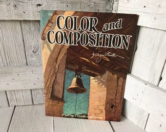 Vintage book Color and Composition Walter Foster art instruction 1950s- free shipping US