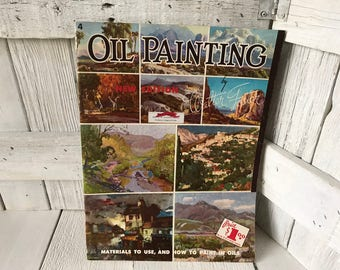 Vintage book Oil Painting by Walter Foster art instruction 1950s- free shipping US
