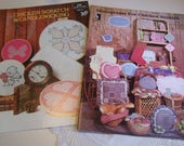 Set of 2 Booklets Chicken Scratch & Candlewicking Projects Includes Monograms