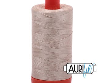 Aurifil Italian Threads-100% Cotton 40wt Piecing and Applique-Large Spool 1092 Yards-2312 Ermine