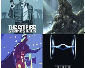 Star Wars Graphic Coasters - YOUR CHOICE - Set of 4