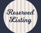 Reserved Listing for Sara