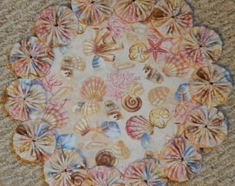 """Sea Shells Yo Yo Doily - 12"""""""