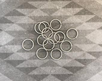 Sterling Silver Rope Ring - Septum - nostril - navel - cartilage - nipple - lip.