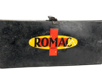 Vintage 1930s/40s  Romac Automotive First Aid Medical Kit - Complete!