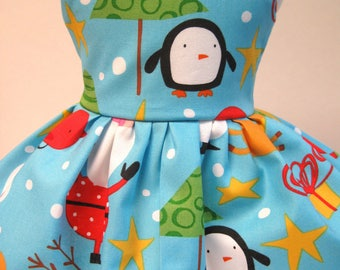 Merry in the North Pole, Sleeveless Dress for your 18 Inch Doll B