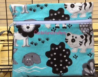 Adorable Mom Baby Travel Pouch Wallet Cotton Zip Bag