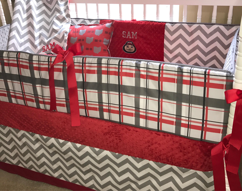 Ohio State Custom Baby Bedding 6 Pc Set