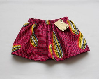 African Wax Print Skirt Girl's Size Three