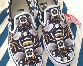 Limited Edition Deco Bee Custom Vans (Women's)