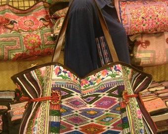 Tote/vintage -Tribal-Handmade Ethnic Hmong Bag 011