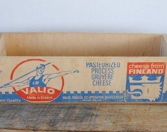 Vintage Valio Wood Cheese Box Gruyer From Finland