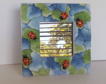 Lady Bug Nature Resin Picture Photo Frame Vintage