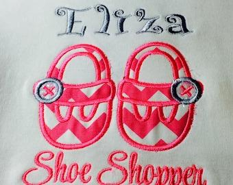 Shoe Shopper in training Applique Tshirt