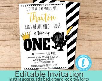 Wild One Etsy - Birthday invitation fonts