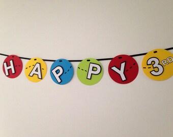 Bouncy Ball Birthday Banner
