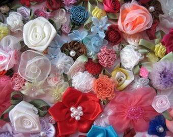 Assorted Appliques, GRAB BAG, Multi Combo for Sewing, Crafting, Scrapbooking Embellishment, Hair Accessories, Doll Clothes, 1 Bag, 2 oz, 010