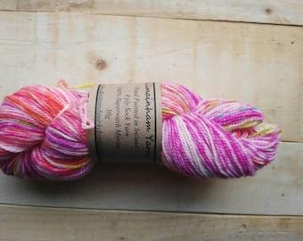 50g Handpainted superwash treated sock yarn/ Hand painted yarn/ Hand dyed yarn
