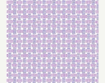 SUMMER SALE Purple and Violet Bamboo Weave from Andover Fabric's Barbados Collection - 100% Cotton