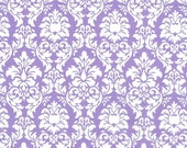 SHOP CLOSING SALE Fat Quarter fabric for quilt or craft Michael Miller Petite Dandy Damask in Purple Fat Quarter