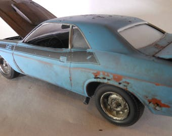 Scale Model Car,Dodge Challenger,Mopar Muscle,Rat Rod,Musclecar Model