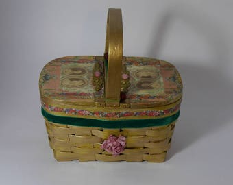 """Vintage handbag """"Pique-nique au petit Trianon""""  vintage  unique piece retro chic    steampunk bag french touch"""