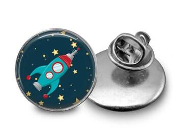 Rocket Pin Retro Rocket Ship Pin Science Pin Lapel Pin