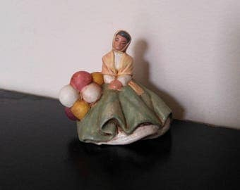 Vintage Spanish Folk Art Ceramic Figurine