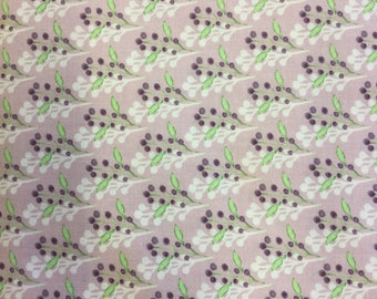 Fabric Freedom Water Colour Floral  FF166/2 in Lilac by the half metre