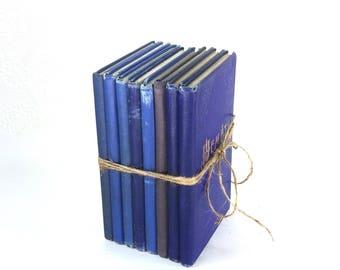 Antique/Vintage Book Stack, Hemat 1913-1947, Swedish Religious Book, Set of 8