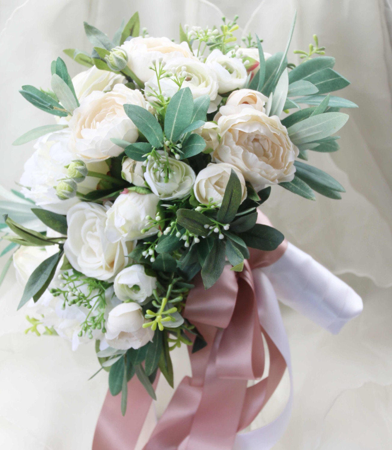 Bridal Bouquets Silk Flowers: Silk Wedding Bouquet Boho Bouquet Bridal Bouquet Silk