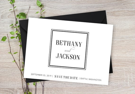 save the date cards 5 x 7 elegant wedding announcement cards