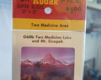 Vintage Kodak Glacier Park Photo Slides