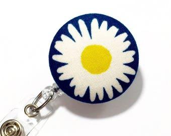 Daisy Flower Name badge reel nurse badge holder retractable badge badge reel name badge reel name badge holder badge holder badge reels