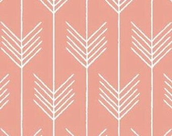 Coral Arrow Valance or Curtains