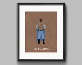 Star Wars Return of the Jedi - The Dashing - Lando Calrissian Art Print - poster, rebel, lando