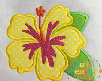 Hibiscus Machine Embroidery Applique Design Buy 2 for 4! Use Coupon Code 50OFF
