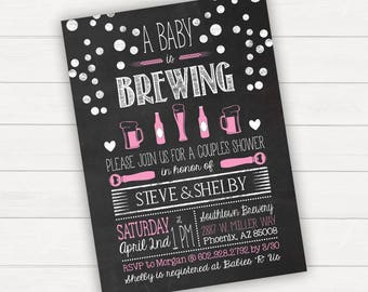 A Baby Is Brewing Baby Shower Baby Is Brewing Baby Brewing Baby Shower Invitation Baby is Brewing Invitation Baby Shower Invites