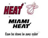 Miami Heat Basketball Decal/ RTIC, YETI, Tumbler, Car, Cell Phone, Computer